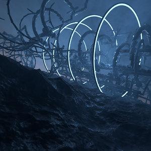 3D concepts strange structure alien