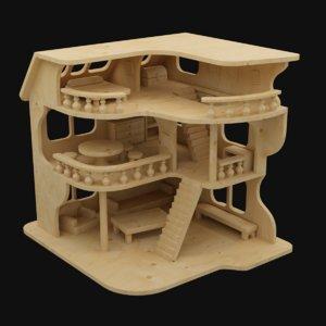 tiny wood house 3D model