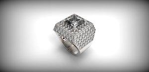 stl gold ring 3D model