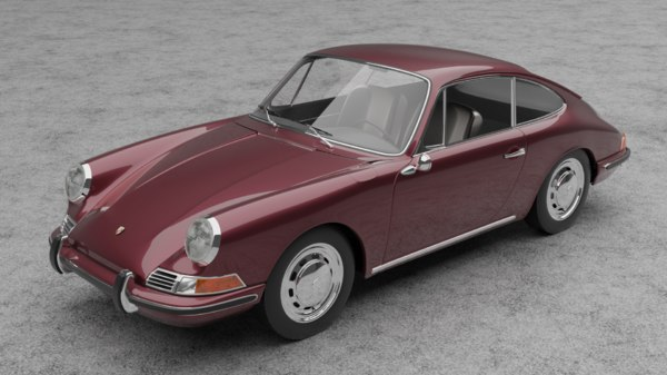 3D model car 1968 porrsche 911