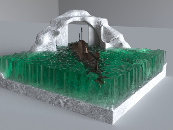 3D sculpture submarine model