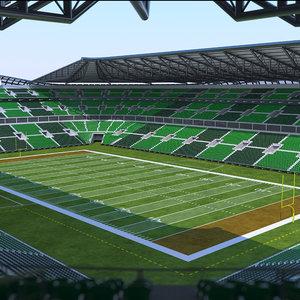 3D football stadium american model