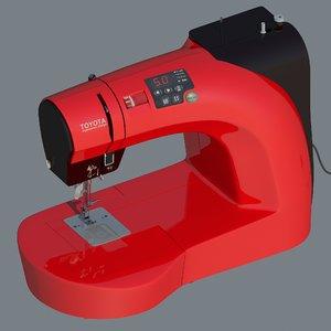 sewing machine toyota 3D model