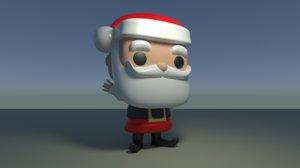 3D custom pop santa claus