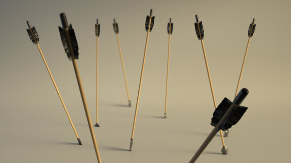 arrow setup materials 3D model