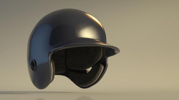 3D baseball helmet model
