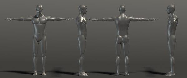 base mesh man muscle 3D