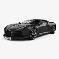 3D bugatti la voiture model