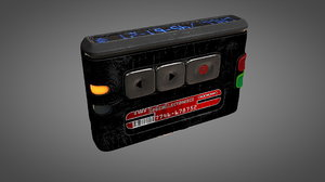 worn pager 3D model