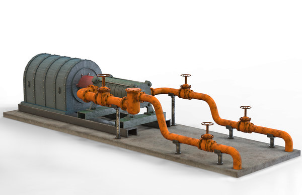 3D industrial pumping equipment