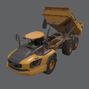 articulated hauler 3D model