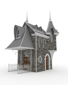 3D model hause-building-historic-exterior