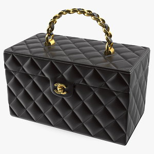 3D chanel vintage black quilted