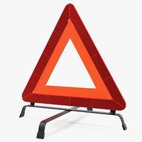 emergency warning triangle 3D model