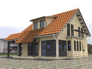 hause-build-exterior- 3D model