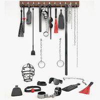 set bdsm accessories 3d max