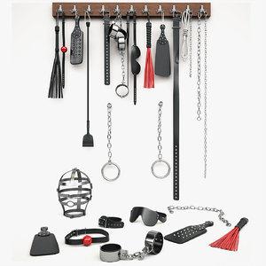 set bdsm accessories 3d max