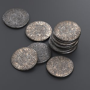 3D viking coin