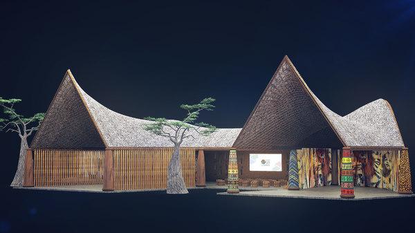 african pavilion 3D model