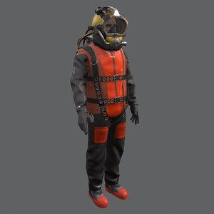 commercial diver 3D