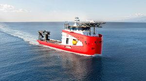 3D model ihc offshore support vessel