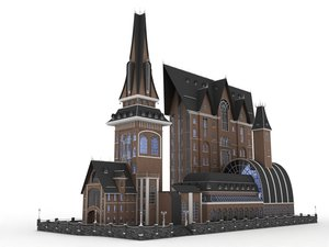 3D model victorian-hause-buil-exterior-historic