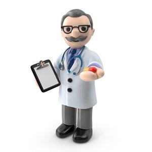 3d doctor stethoscope model