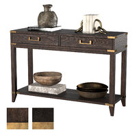 3D cayden campaign 2-drawer console table model