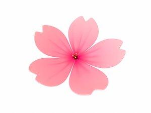 sakura flower 3D model