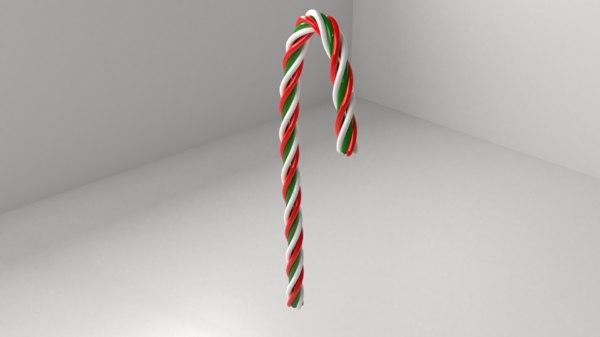 3D candy cane 4