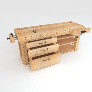 3D model workbench bench work