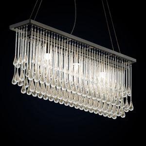 3D light drizzle chandelier model