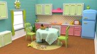 Kitchen Cartoon lowpoly Low-poly 3D model