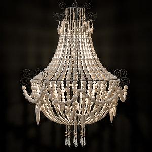 3D chandeliers bead model