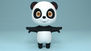 3D model cute bear cartoon