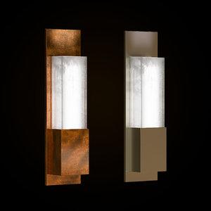3D wall lamp cinabre