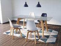 Modern Table Chair Lamp Set 3D