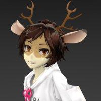 3D model deer boy