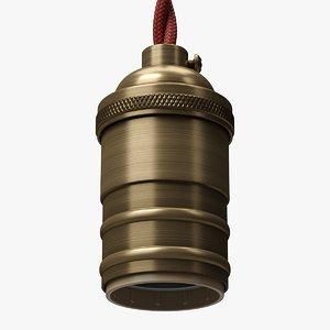 vintage bulb holder 3D model
