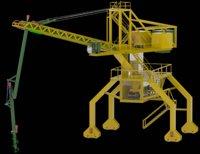 Ship unloader for bulk material