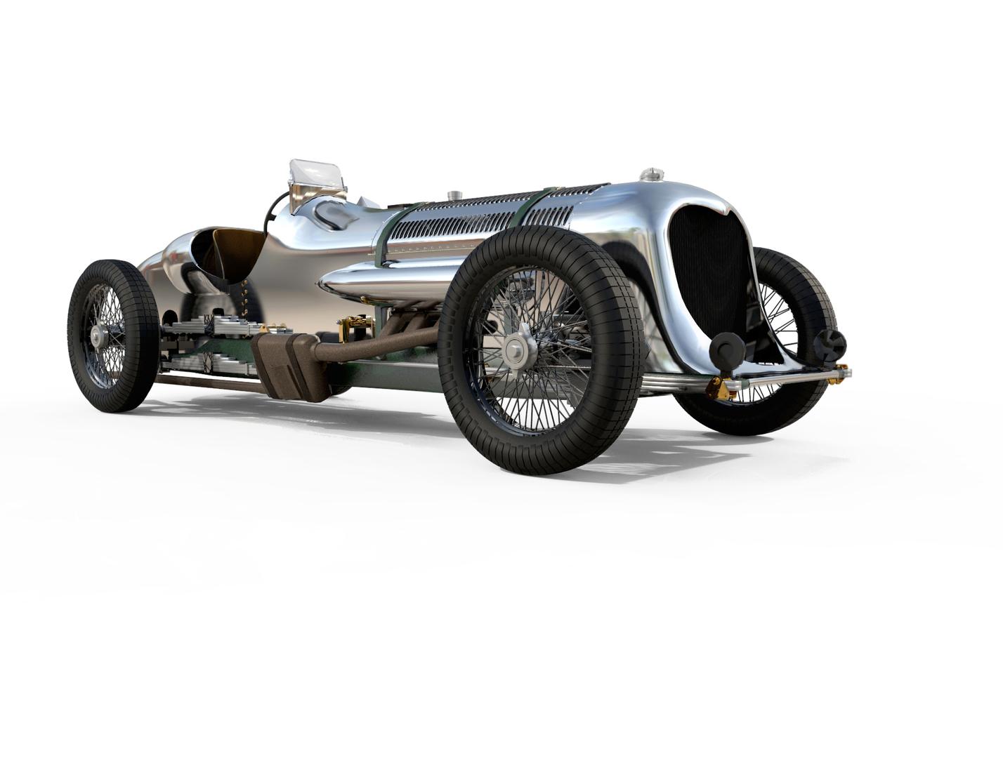 napier-railton race car railton 3D model