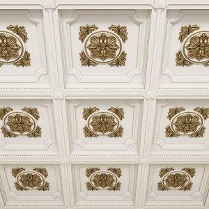 ceiling decorative tile 3D model