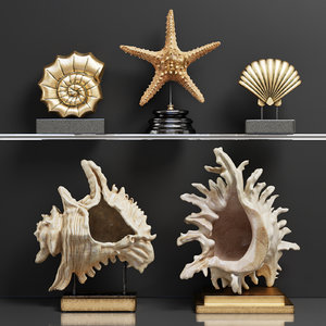 3D decor set 42 sculptures