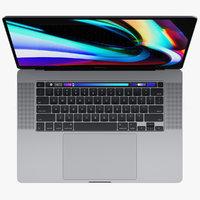 3D macbook pro 16-inch 2019 model