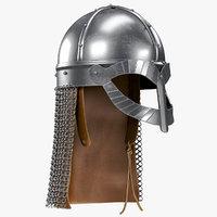 3D viking gjermundbu helmet aventail