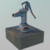 old water pump 3D
