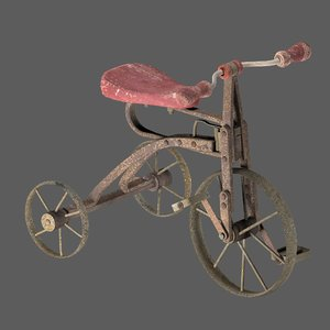 old rusty children s 3D model