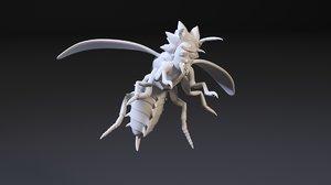 3D rick hornet model