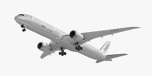 3D boeing 787-10 dreamliner
