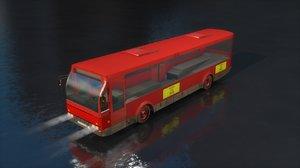3D model emt red bus